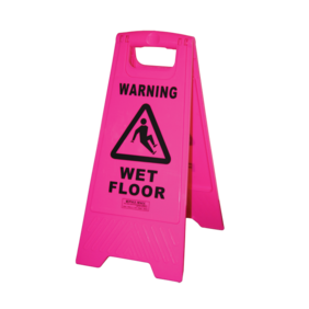 A-FRAME SAFETY SIGN - WET FLOOR - PINK