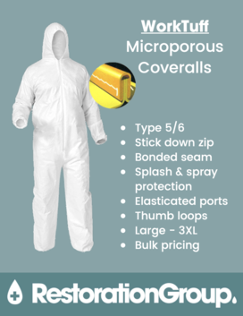 WorkTuff Microporous Type 5/6 Coveralls