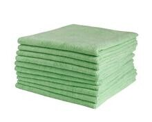 COMMERCIAL MICROFIBRE CLOTH GREEN 40CM X 40CM