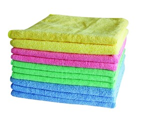 COMMERCIAL MICROFIBRE START UP PACK (3 BLUE/3 GREEN/2 PINK/2 YELLOW) 10 PACK